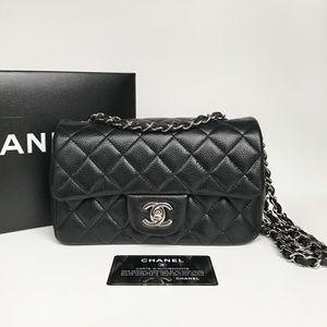❌SOLD❌ Chanel Mini Rectangular Caviar Flap w/ SHW